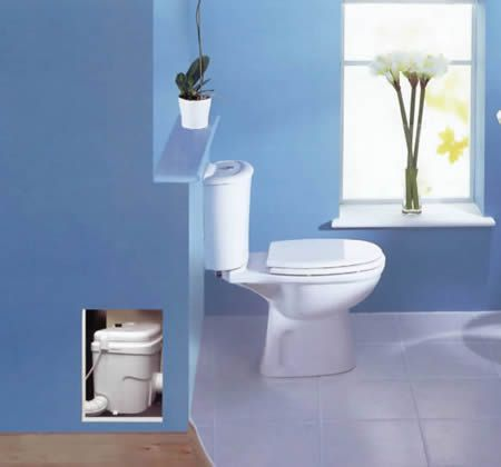 Up Flush Toilets No Need To Break Up The Concrete In The
