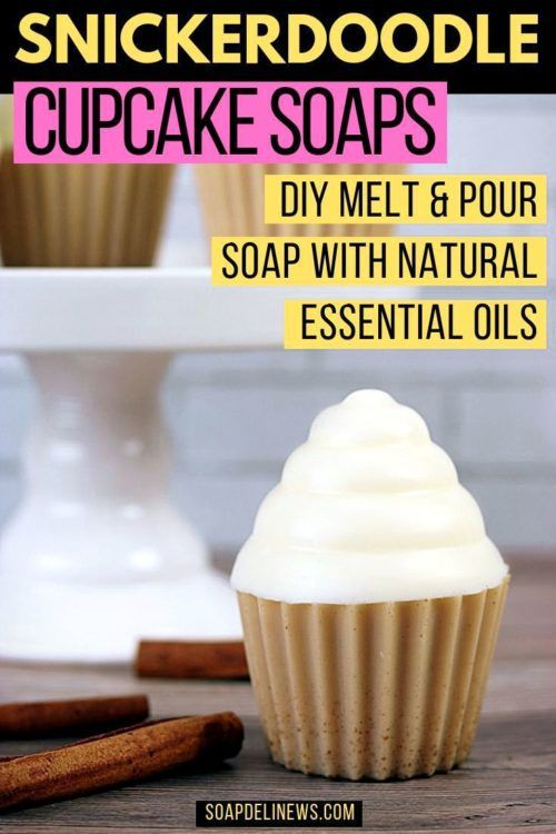 Snickerdoodle Soap Cupcakes mit Melt and Pour Soap & Essential OIls
