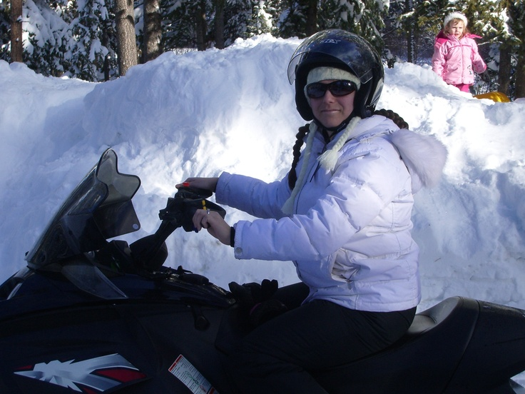 Snowmobiled over a frozen lake!  Logan Lake, BC Jan 2007 #ExploreGoldCountry