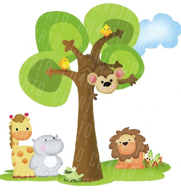 Pixel Decoracion De Amientes Infantiles Animales De La Selva ...