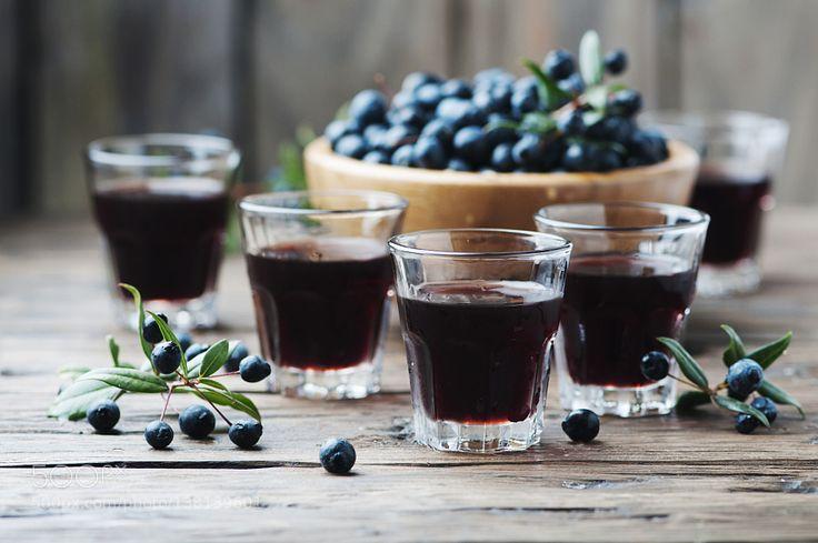 Pic: Traditional sardinian liqueur with mirto