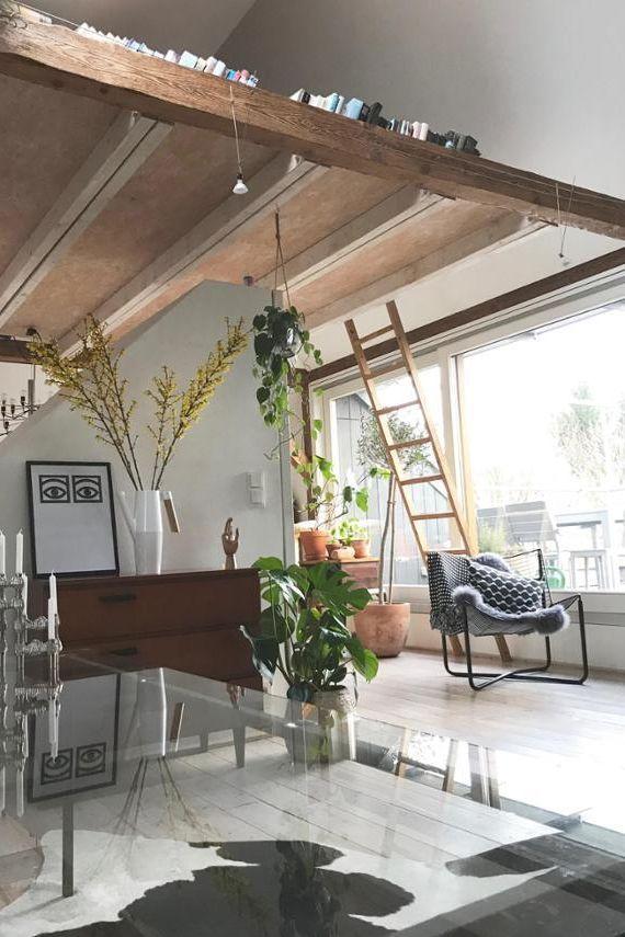 Offene Balkendecke Im Appartment Von Frauwagenfeld Auf Couchstyle