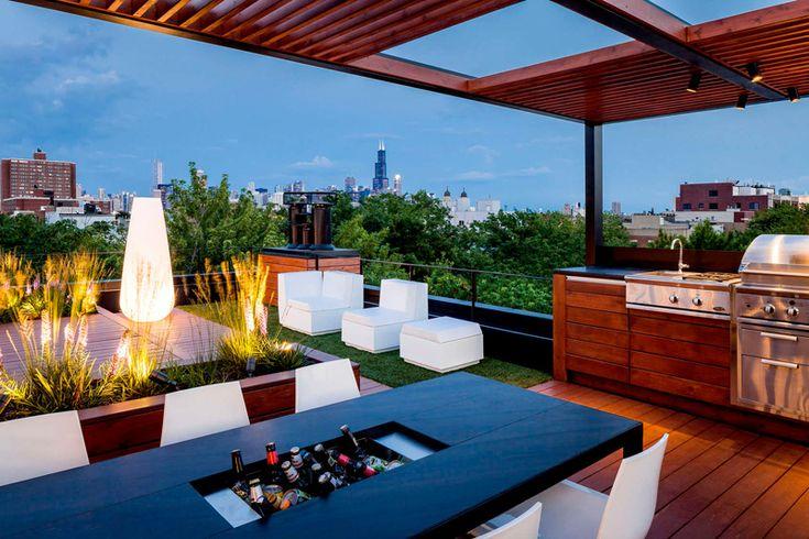 Roof top sun deck
