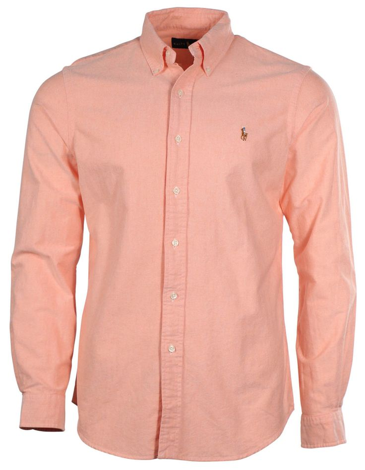 Details about polo ralph lauren men 39 s long sleeve oxford for Oxford long sleeve button down shirt