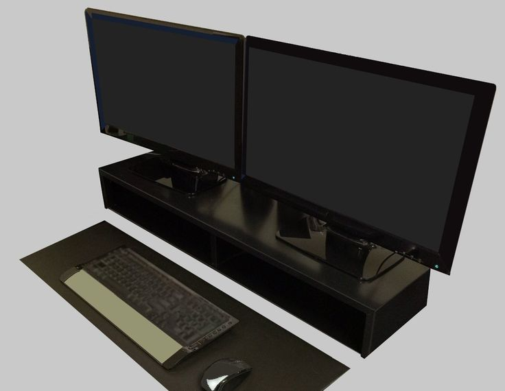 Amazon.com: Dual Monitor Stand (Black) | RIZERvue: Office Products