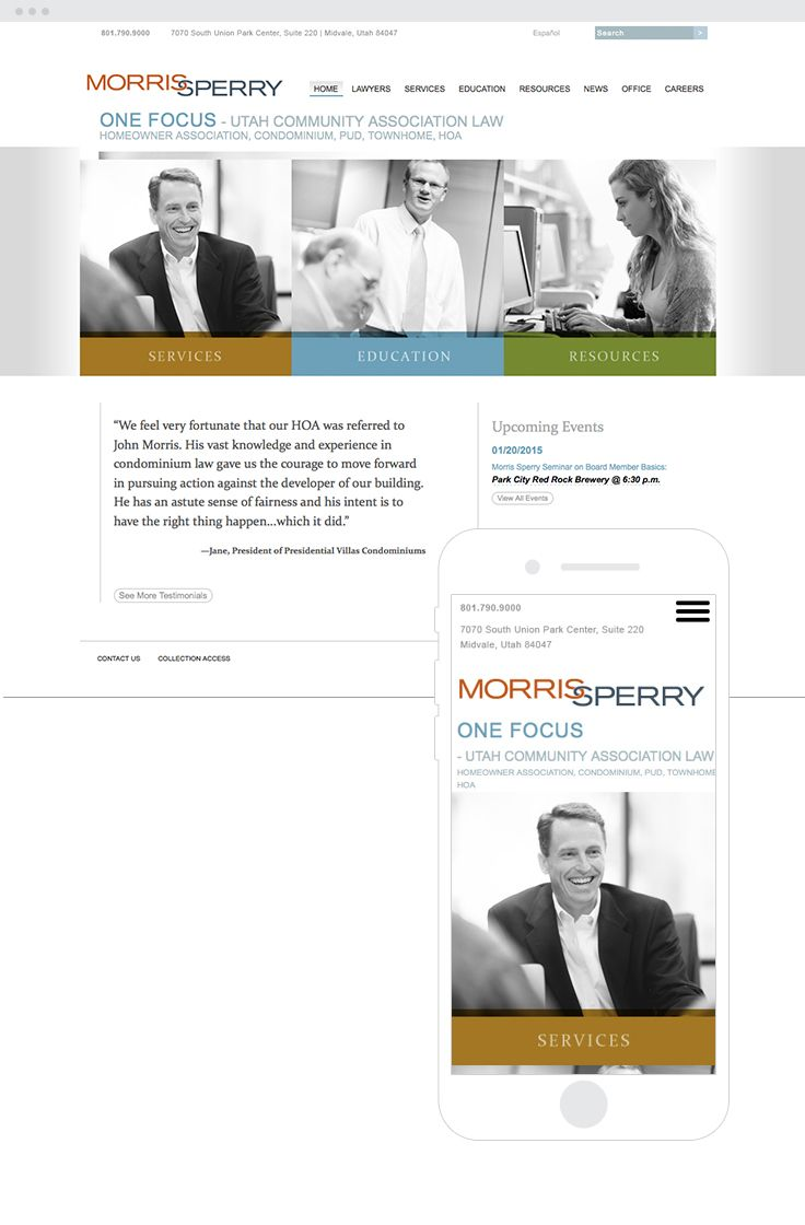 Morris Sperry Responsive Web Design  #epicmarketing #marketing #graphicdesign #webdesign #responsive