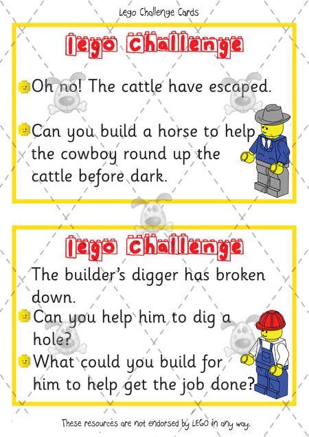 Teacher's Pet - Lego Challenge Cards - Premium Printable Classroom Activities and Games - EYFS, KS1, KS2, building, blocks, design, ideas, l...