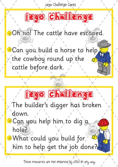 Classroom Design Challenge ~ Teacher s pet lego challenge cards premium printable