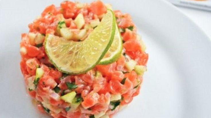 Tartare de saumon rafraichissant!