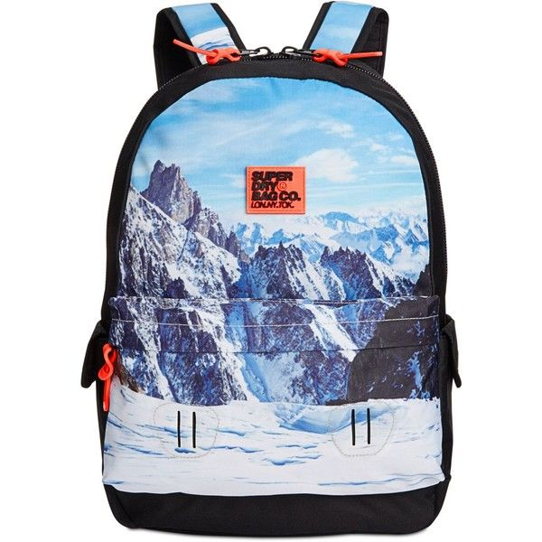 Superdry Men's Printed Montana Backpack ($45) ❤ liked on Polyvore featuring men's fashion, men's bags, men's backpacks, black print and mens backpack