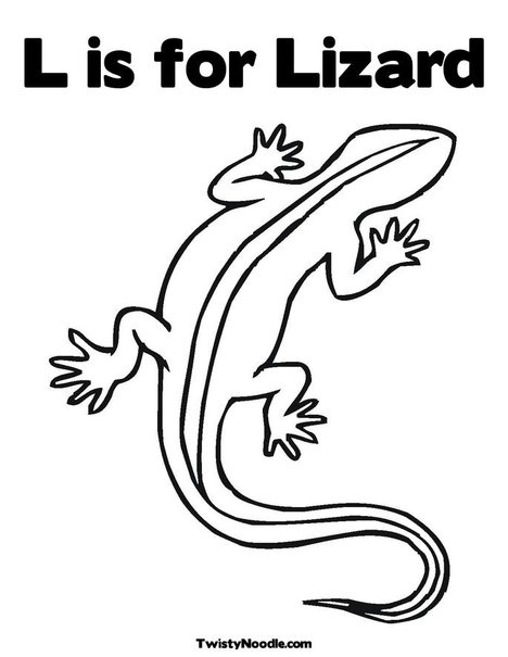 Lizard Coloring Page - use cotton buds to make aboriginal art