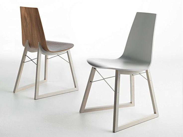 Sled base wooden chair RAY by HORM.IT | design Orlandini Design