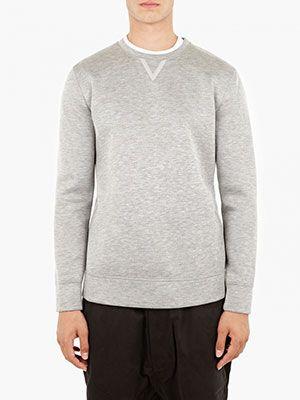 Helmut Lang Grey Tape-Detail Sweatshirt, £175