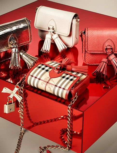 New crossbody bags with fringed tassels from the Burberry S/S13 accessories collection