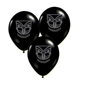 $3.95 for 10 Rugby League :: NRL Merchandise :: New Zealand Warriors :: New Zealand Warriors Balloons -