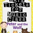 Peter and the Wolf Exit Tickets! YES!