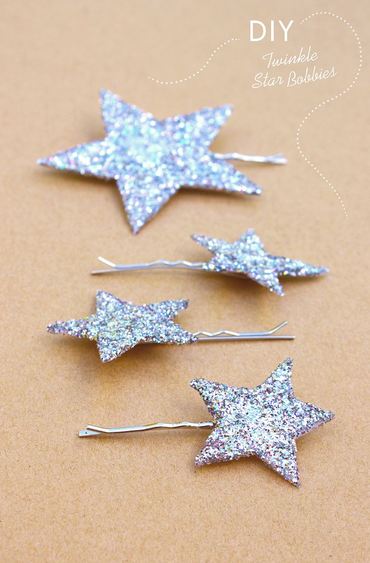 DIY Twinkle Star Bobby Pins npour @Jena Kittie upon