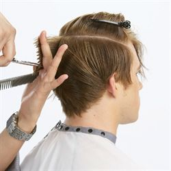 Mens cuts HOW-TO: disheveled - a little bit edgy, a little bit sleek.  I learned to cut men's hair a long time ago, but this can be a good refresher.