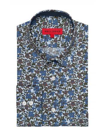 Brązowa koszula męska Wólczanka 199.90 - wolczanka.pl - Wolczanka.pl sklep internetowy