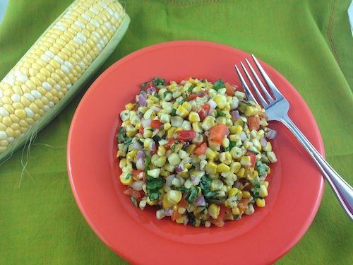 Salad Recipe: Barbequed Corn and Roasted Red Pepper Salad
