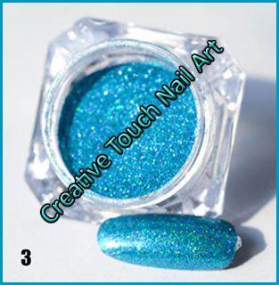 Buy Laser Chrome Holographic Color Effect Nail Art Pigment Powder - 1g…