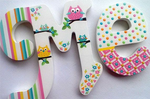 HOOT  Personalized Custom Painted Decorative Wooden by PoshDots, $16.00