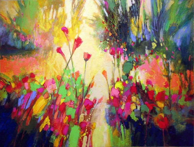 "Contemporary Painting - """"Donna's Garden 853"""" (Original Art from MARK GOULD)"