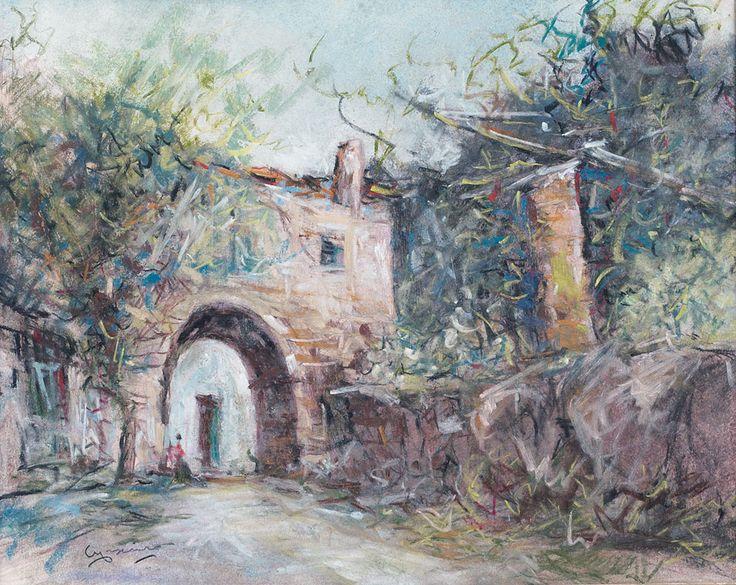 CASCIARO GIUSEPPE Ortelle (Le) 09/03/1863 - Napoli 20/10/1945 Vecchio casolare, NULL , 23x29