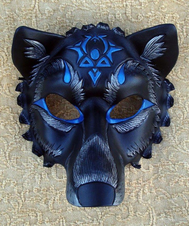 Custom Black Wolf Mask by merimask on deviantART