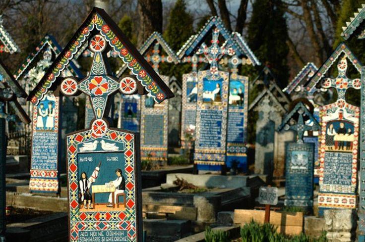 Het 'Vrolijke' Kerkhof, Maramures (Roemenië)