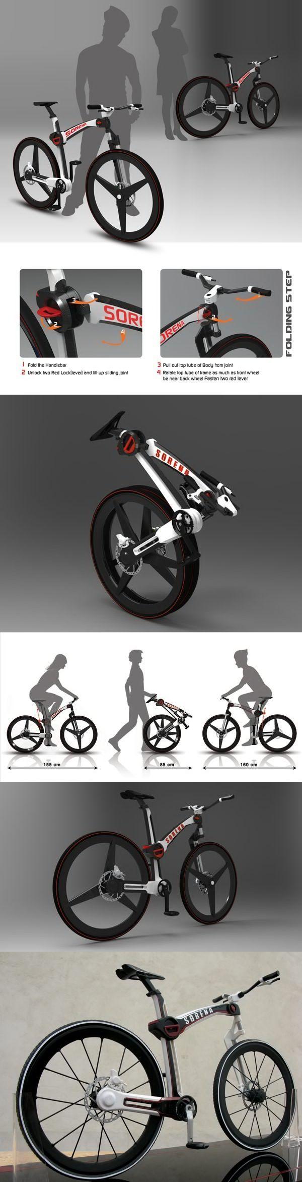 "The ""Sorena"" folding bike concept designer: Mahdi Momeni"
