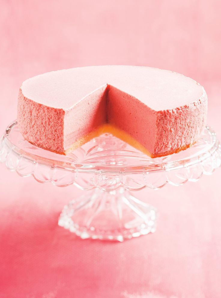 must try strawberry bavarian mousse dessert; homemade dense, eggy cake/blondie/sponge like crust; topped with the most amazing strawberry mousse (made with a lot of heavy cream, egg yolks, and fresh strawberry puree) topped with a fresh strawberry coulis