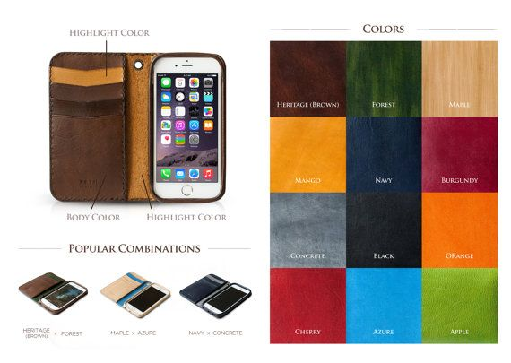 iPhone 6s Wallet iPhone 6s Plus Wallet iPhone 6 by TRIMleather