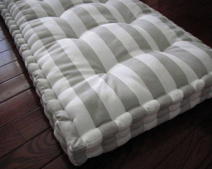 Custom Bench Cushion Black Ticking Stripe Window Seat Etsy Custom Bench Cushion Bench Cushions Window Seat Cushions