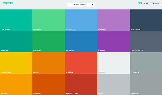 Flatuicolors. Colores Flat Design