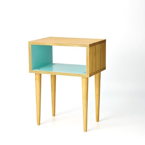 side table for lounge or bedroom. i like teal colour and retro look.
