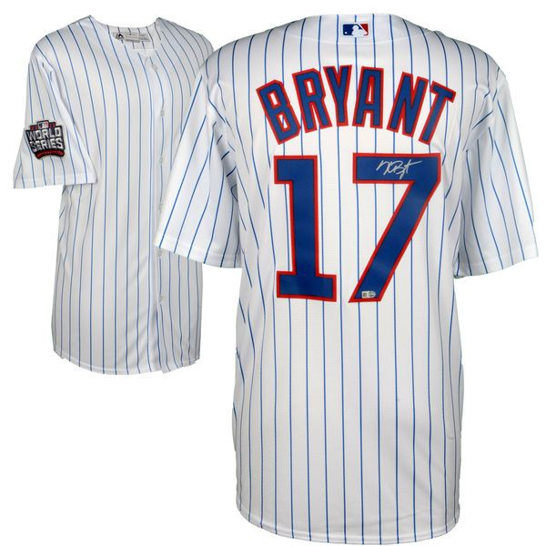 Kris Bryant Chicago Cubs Fanatics Authentic 2016 MLB World Series Champions Autographed Majestic White Replica World Series Jersey - $499.99