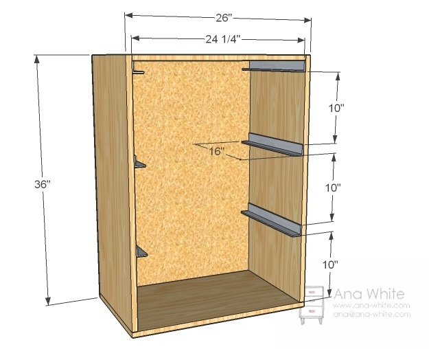 Instructions for DIY laundry basket shelf.