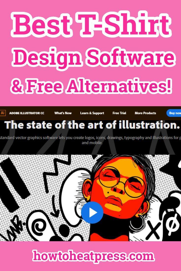 The Best T Shirt Design Software Adobe Illustrator Review T Shirt Design Software Cricut Tutorials Cricut Heat Transfer Vinyl