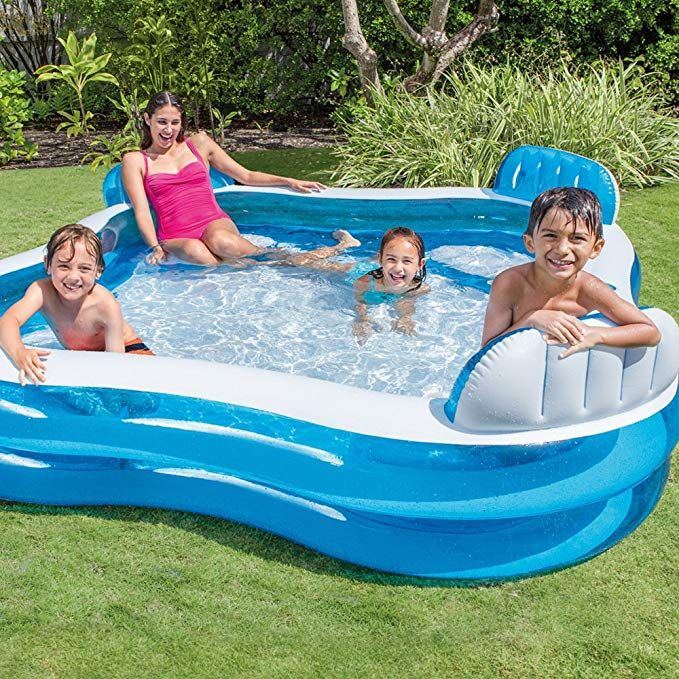 Intex Swim Center Family Lounge Inflatable Pool 90 X 90 X 26 For Ages 3 Toys Gam Family Lounge Pool Children Swimming Pool Inflatable Pool