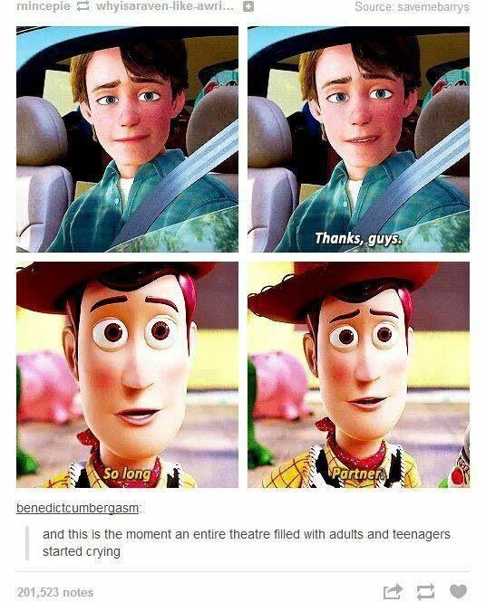 Saddest part of Toy Story 3!!