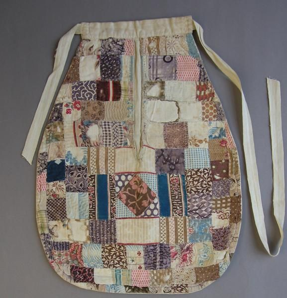 Mended patchwork pocket, 19th Century