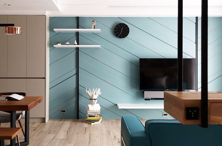 湖水藍的生活空間!新竹 25 坪現代風親子公寓 - DECOmyplace 新聞
