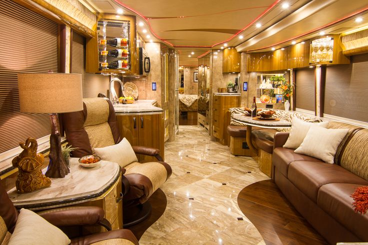 Marathon Custom Coach 1221 Converted On A Prevost H3 45 Double Slide Chassis Features