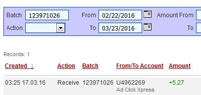 """I am getting paid daily at ACX and here is proof of my latest withdrawal. This is not a scam and I love making money online with Ad Click Xpress"