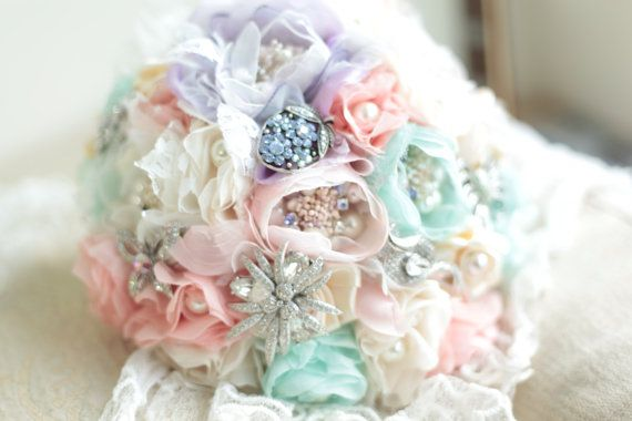Macaronic Style Fabric Bouquet