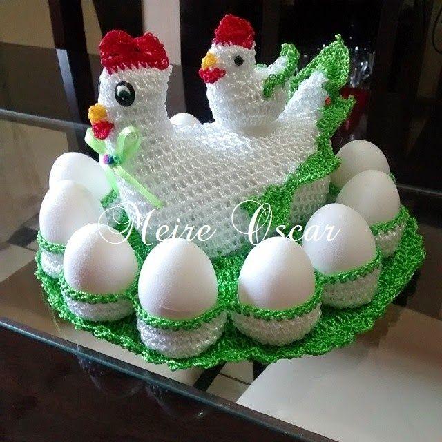 MEIRE OSCAR  ARTES E ARTESANATOS ! !: Galinha porta ovos