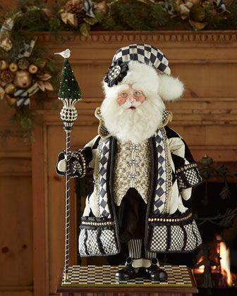 Tuxedo Santa by MacKenzie-Childs at Horchow.