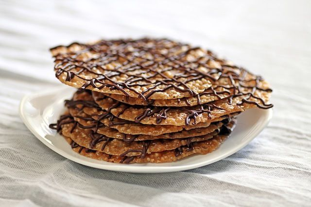 Italian Florentine Cookies } Almond lace cookies with orange zest ...