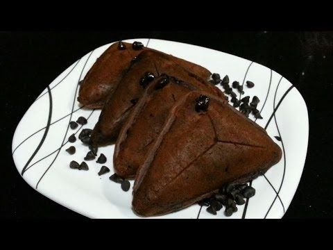 5 min chocolate cake in sandwich toaster-EGGLESS - YouTube
